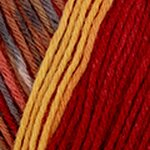 Katia Jacquard Symmetric Socks 100 rust-ochre-red-orange
